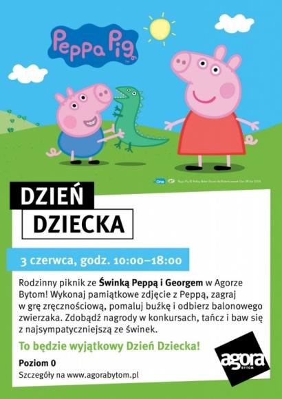 Dzień Dziecka pełen atrakcji - świnka Peppa odwiedzi Bytom - Balonowe zoo, malowanie twarzy, warsztaty artystyczne, konkursy, a przede wszystkim spotkanie ze świnką Peppą i jej bratem Georgem. To tylko część atrakcji przygotowanych dla wszystkich dzieci, które 3 czerwca odwiedzą Agorę Bytom.